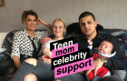 Teen mom, celebrity support