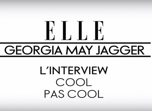 L'interview cool de Georgia May Jagger - ELLE people